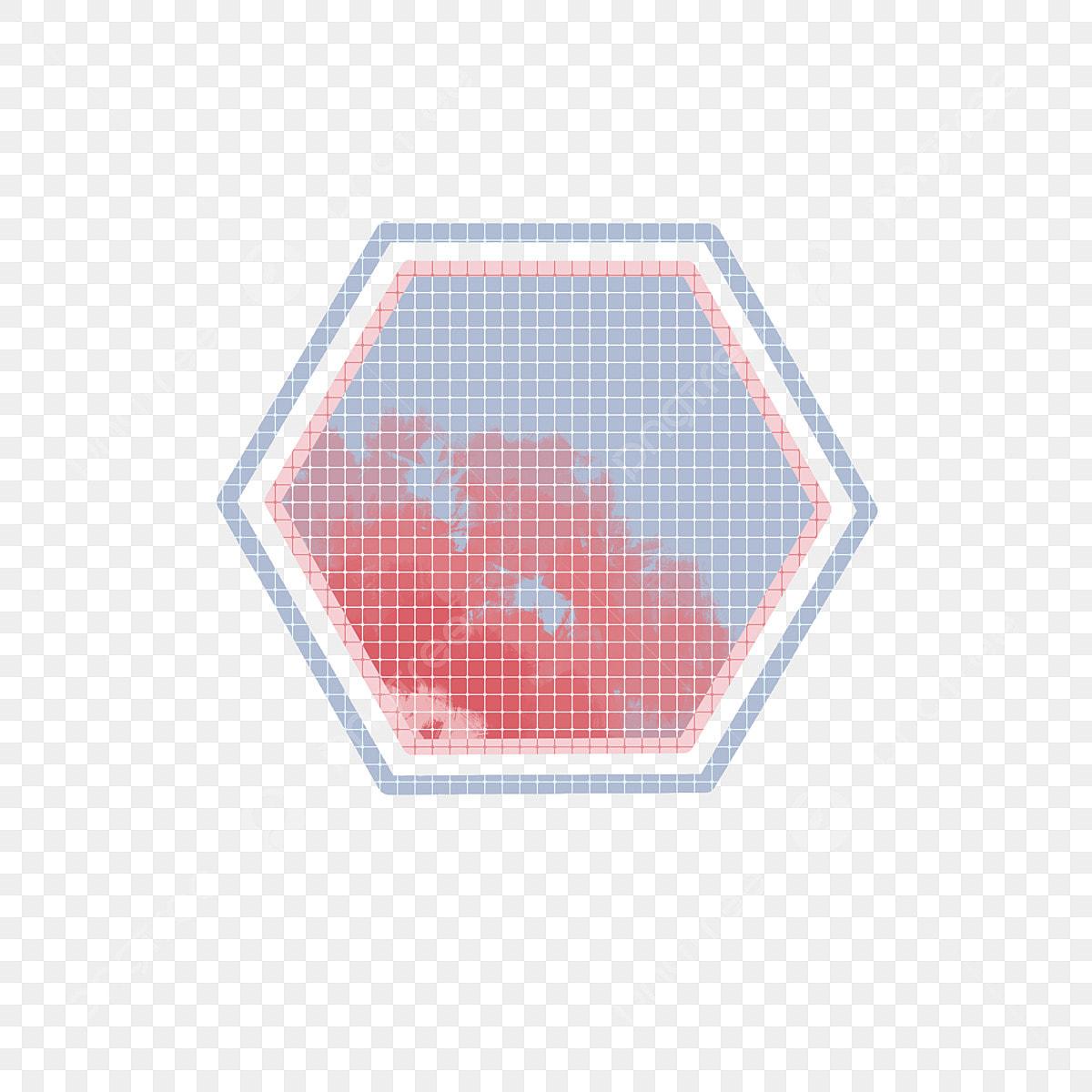Fantasy Hexagon Decorative Pattern Design Element Hand