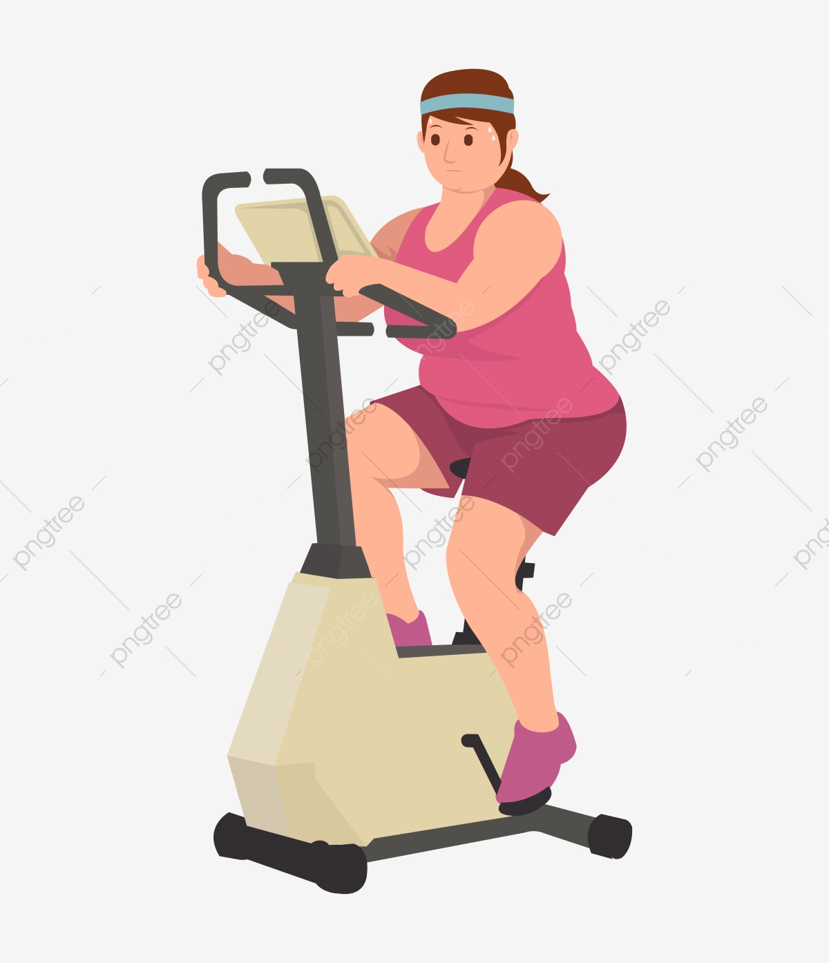Cartoon vector illustration interior fitness room with separated