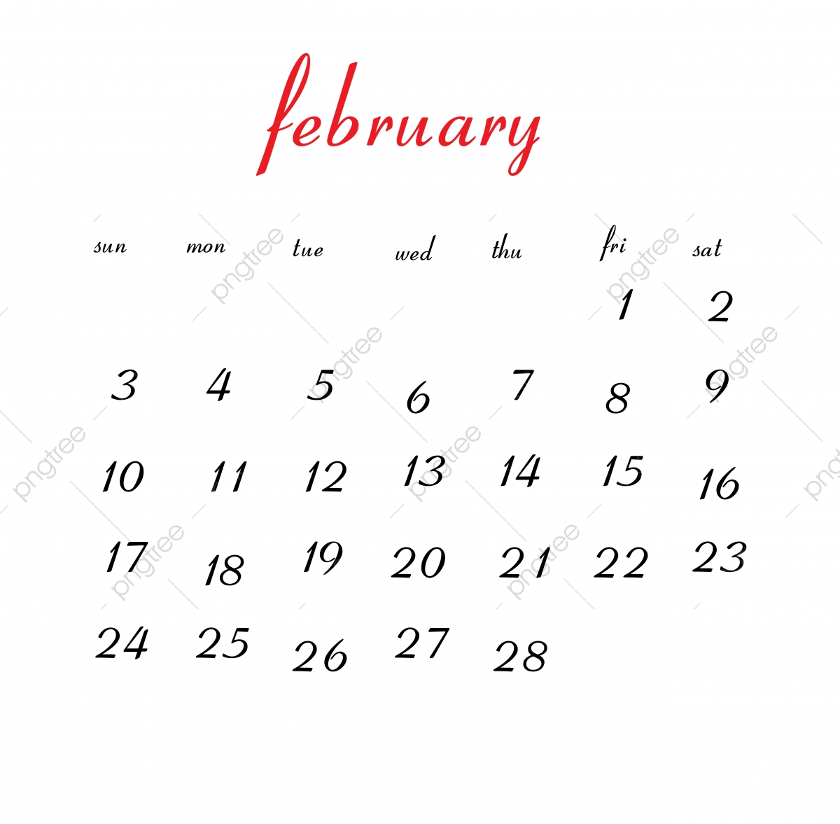 February 2019 Calendarpng February 2019 Calendar, Calendar, Clean, White PNG and Vector with