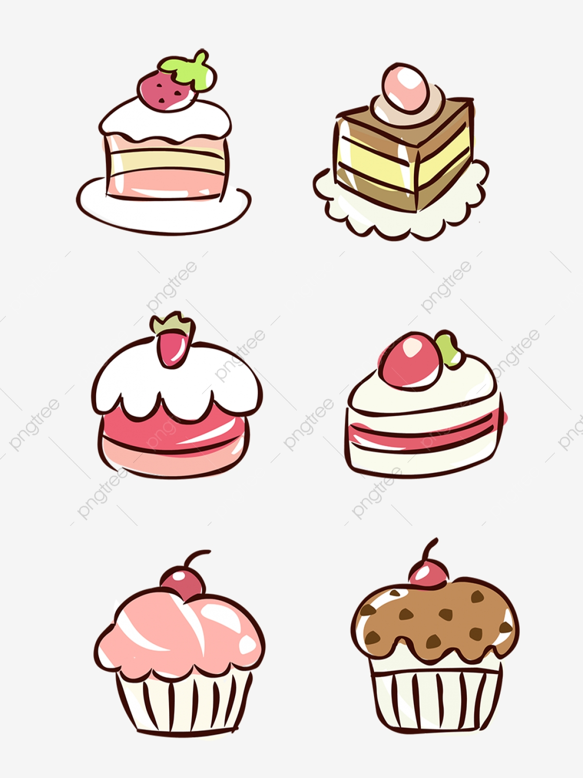 Free Desserts Clip Art with No Background - ClipartKey