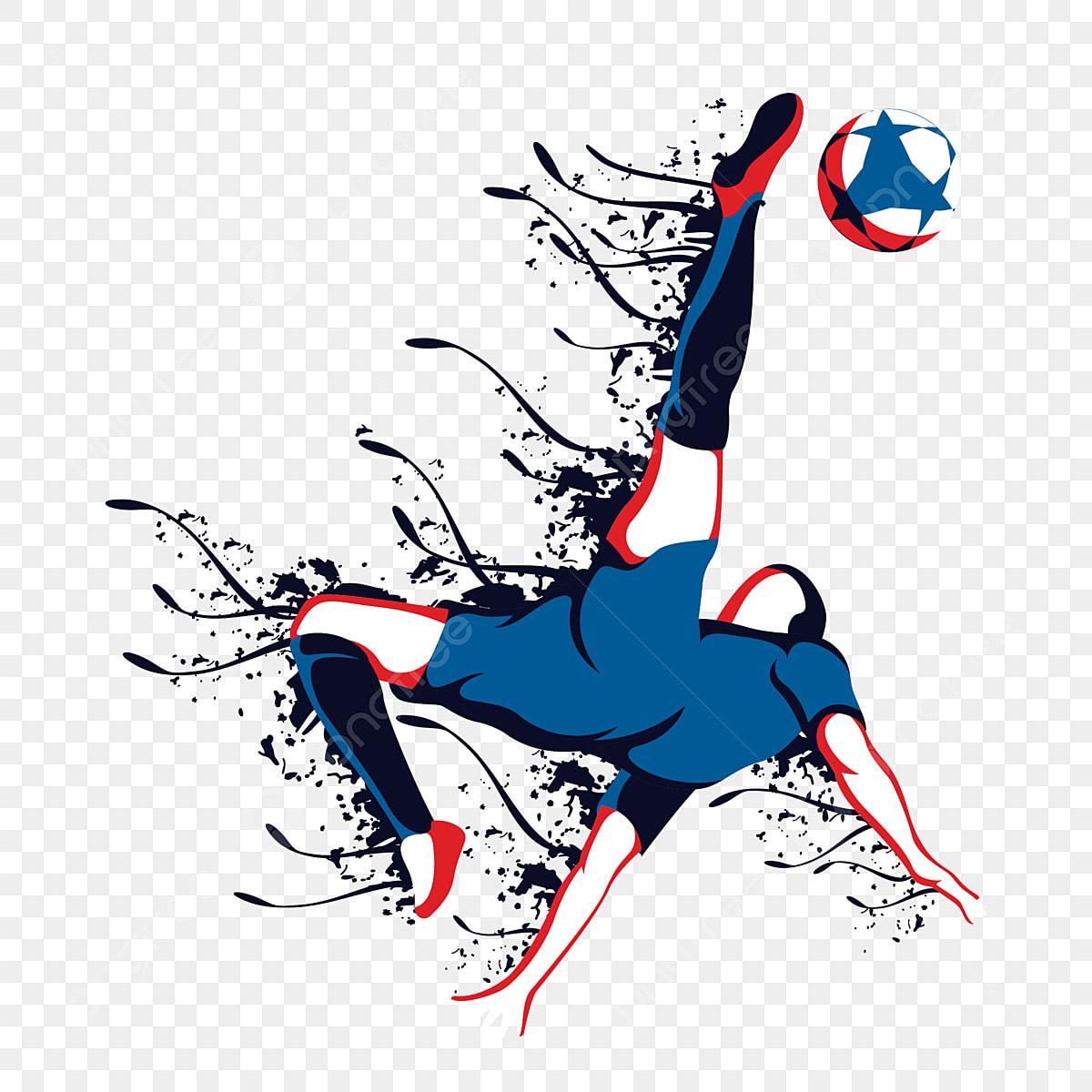 Bola Sepak Bola Sepak Bola Sepak Kartun Pemain Bola Sepak