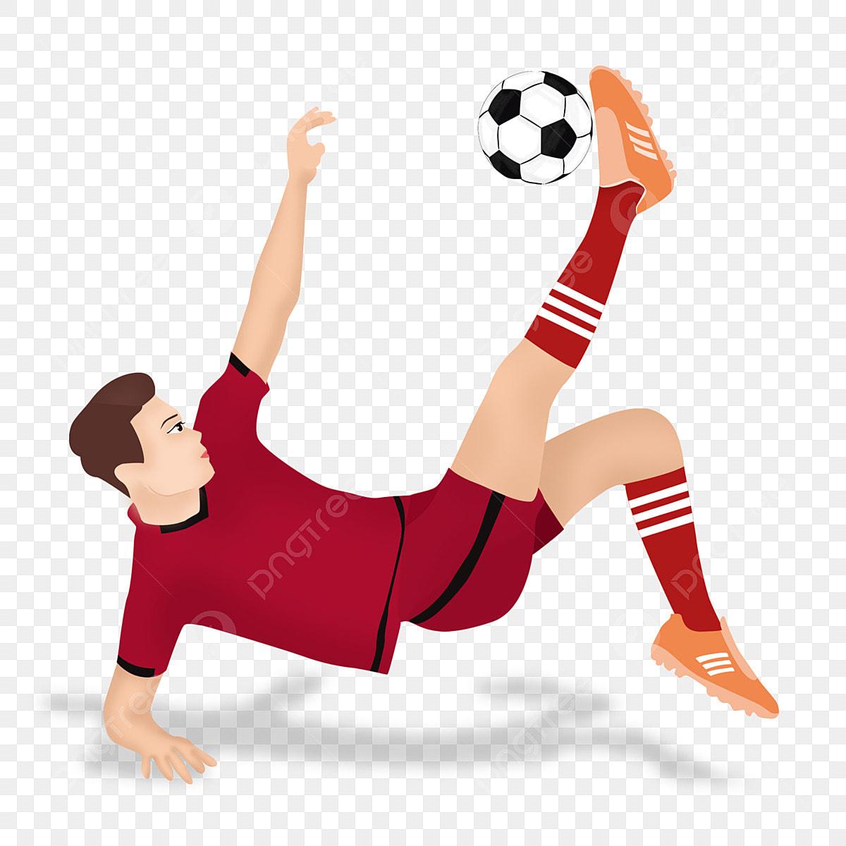 Bahan Pemain Bola Sepak Kreatif Kartun Pemain Bola Sepak