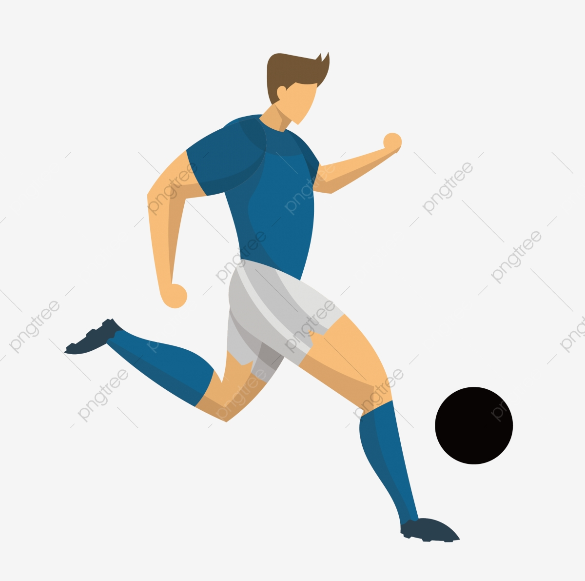 Football Soccer Player Athlete Cartoon Cartoon Athlete Lovely Cute Athlete Png And Vector With Transparent Background For Free Download