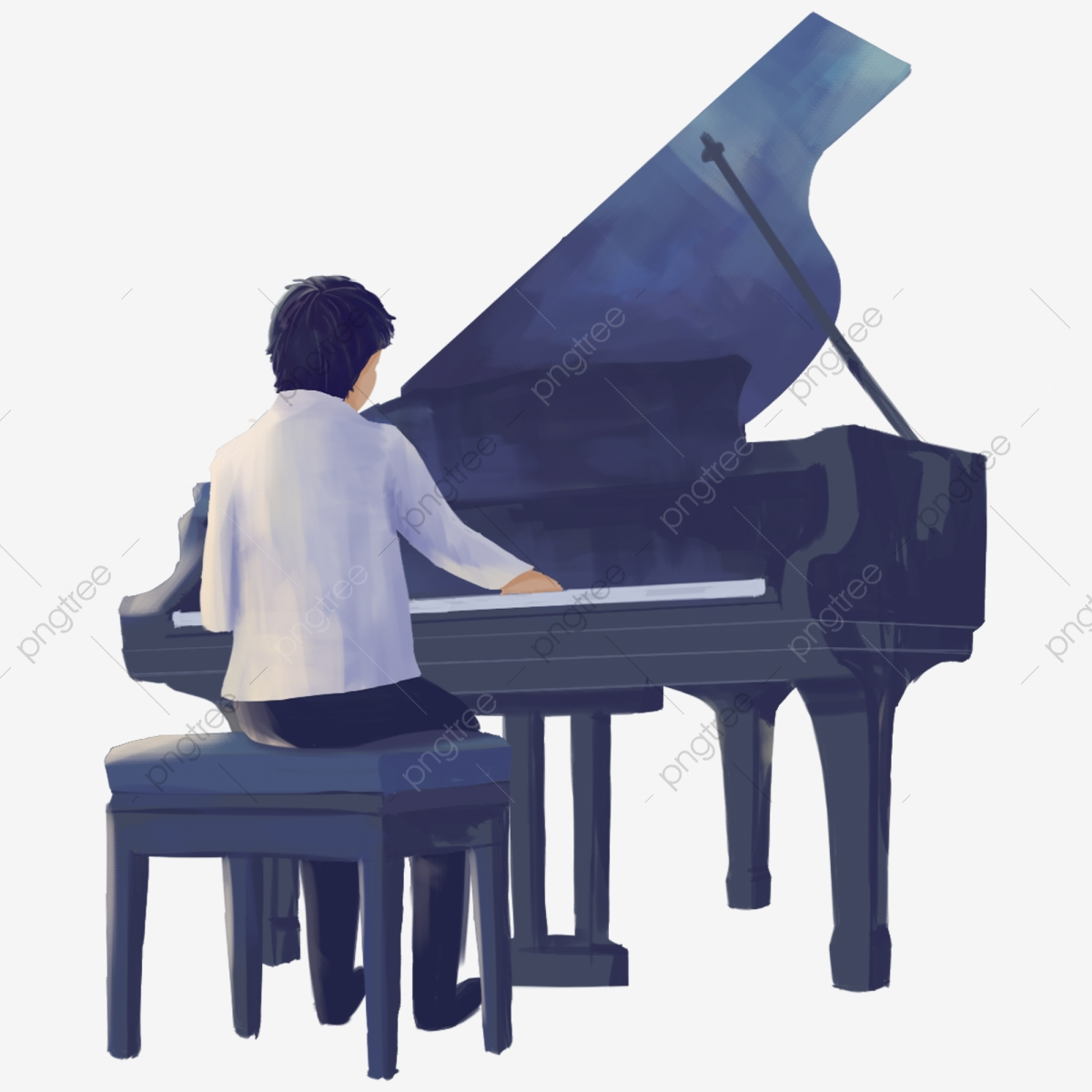 Fresh Man Playing The Piano Decorative Elements Man Playing The Piano Playing Png Transparent Clipart Image And Psd File For Free Download