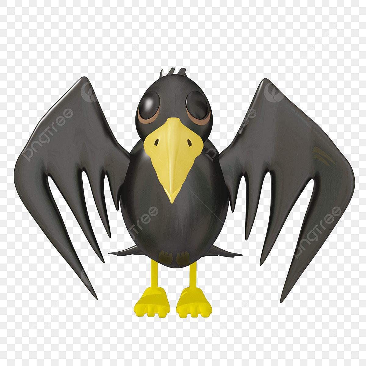 Gambar Halloween C4d Kartun Gagak Hitam Syaitan Gagak Kartun Black Png Dan Psd Untuk Muat Turun Percuma