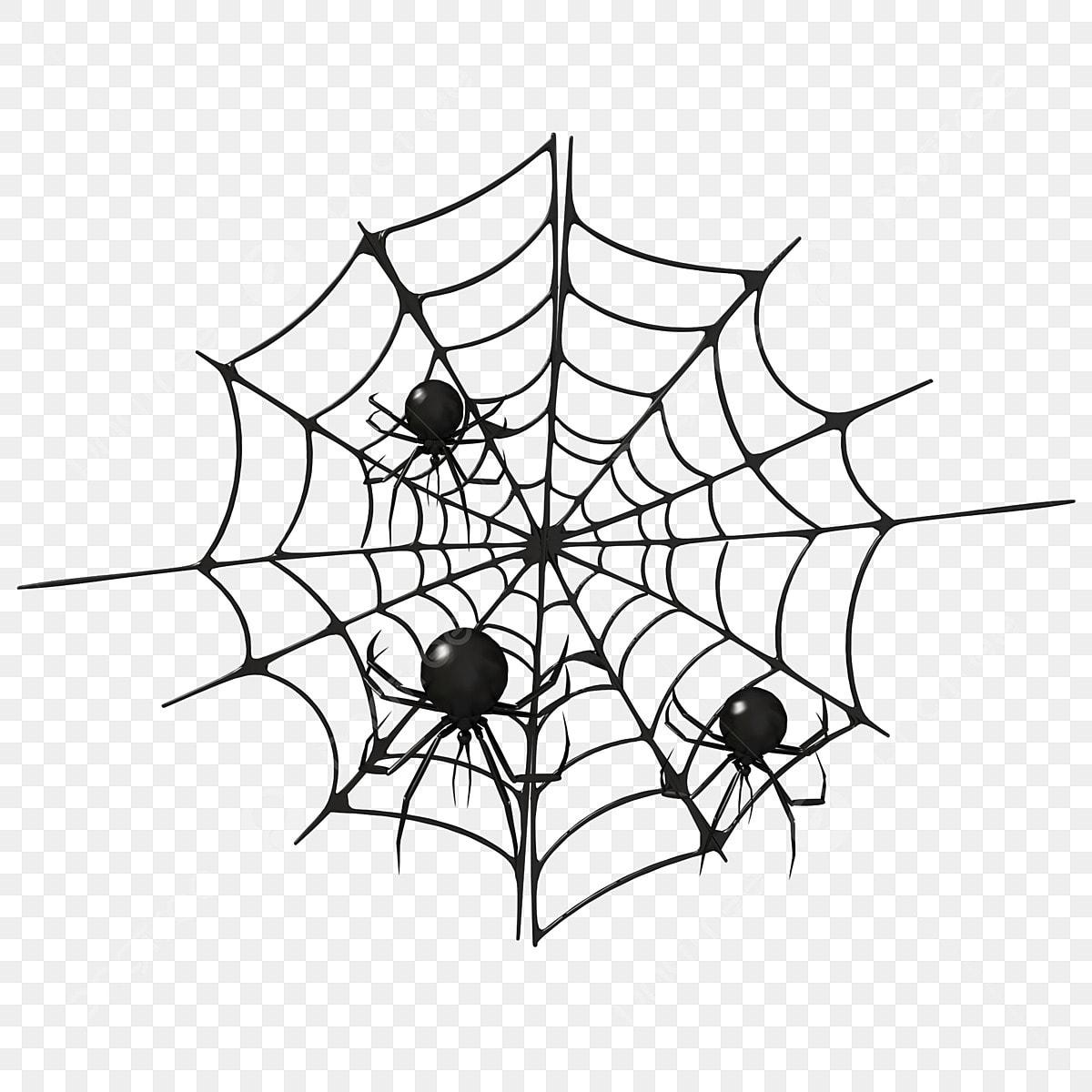 Halloween C4d Dessin Animé Toile Daraignée Noire Araignée