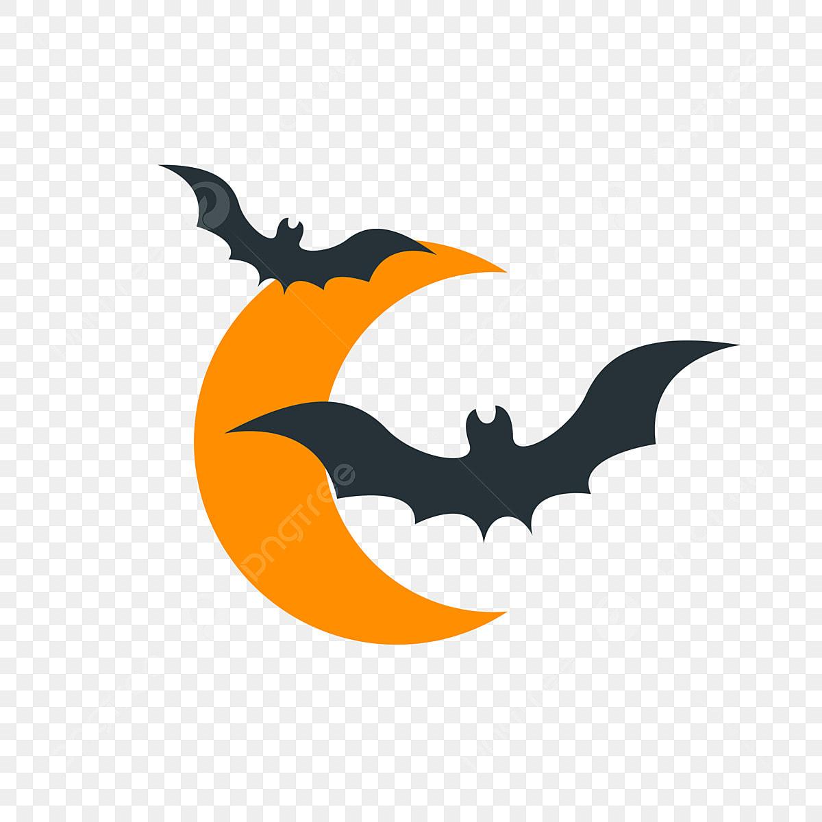 Halloween Cartoon Hand Drawn Funny Horror Bat Elements Halloween