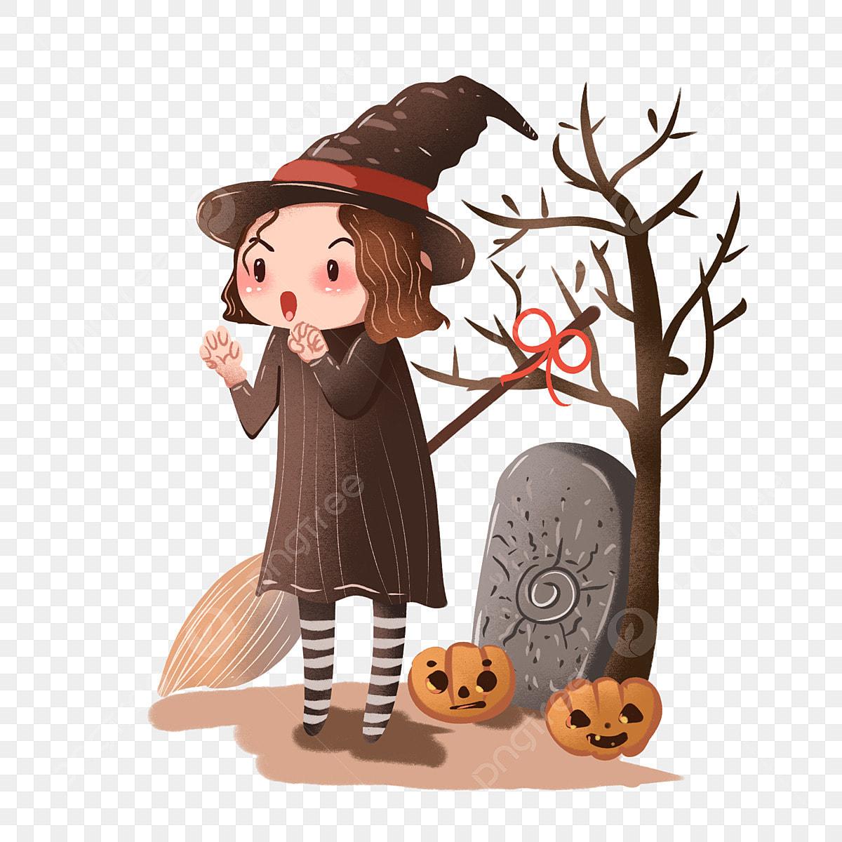 Decoration Sorciere Halloween.Halloween Mignonne Petite Sorcière Décorative Halloween Mignon