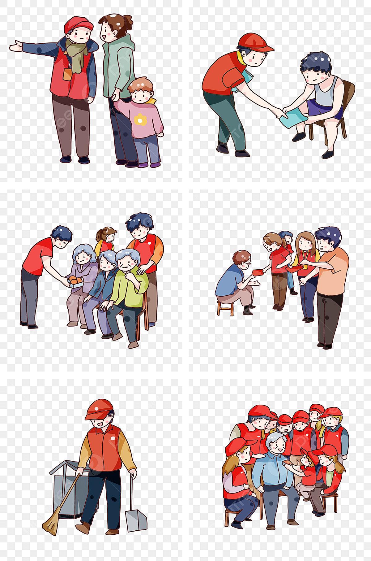 Kartun Yang Ditarik Tangan Sukarelawan Melaksanakan
