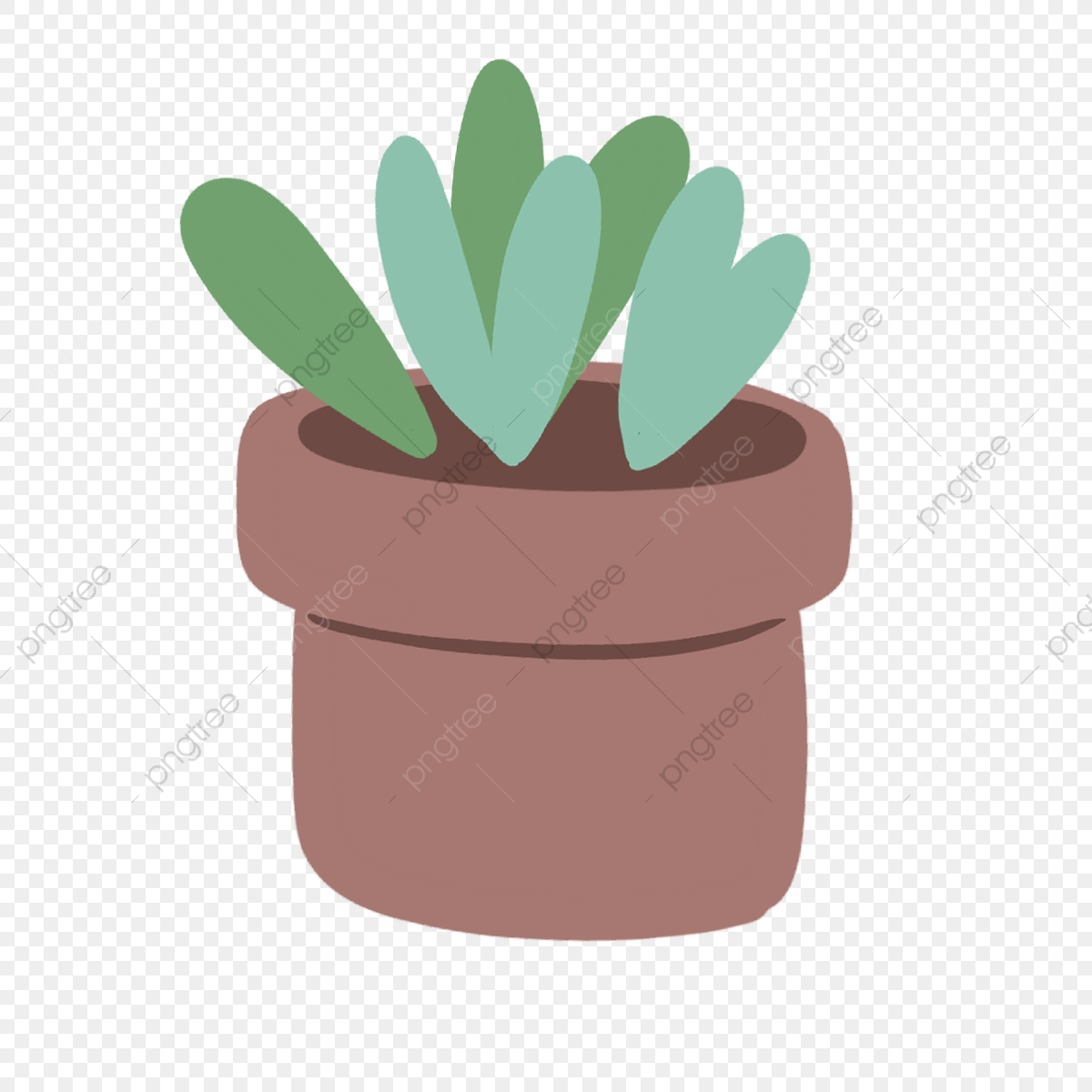 Hand Drawn Cute Succulent In Pot Garden Drawing Succulents Png Transparent Clipart Image And Psd File For Free Download