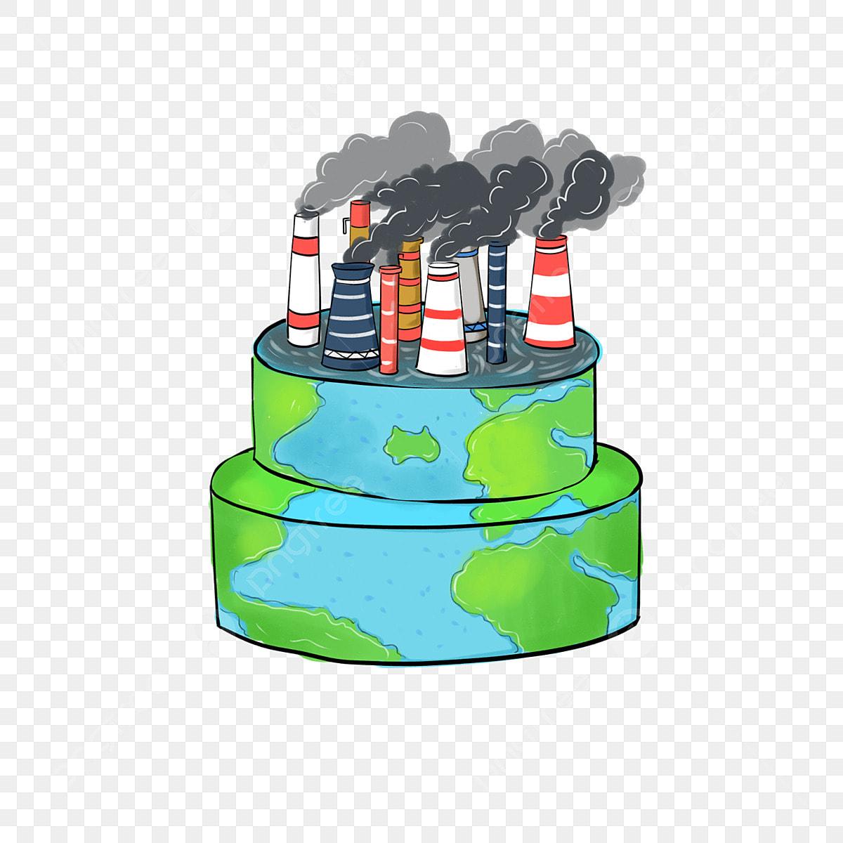 Dessin De Terre Dessiné à La Main Cheminée Pollution