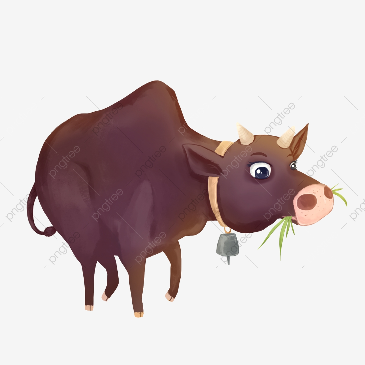 Lukisan Lembu Sedang Meragut Rumput