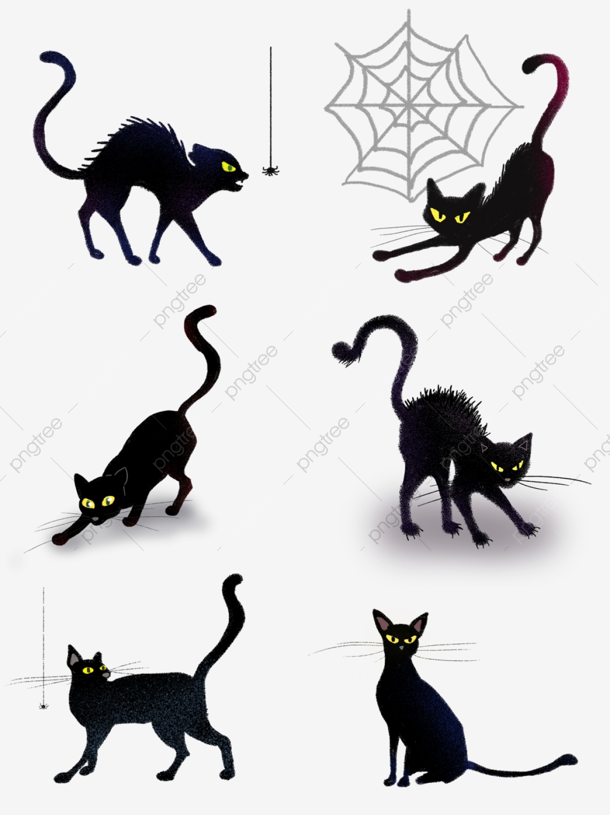 Hand Drawn Halloween Creative Black Cat Account Commercial