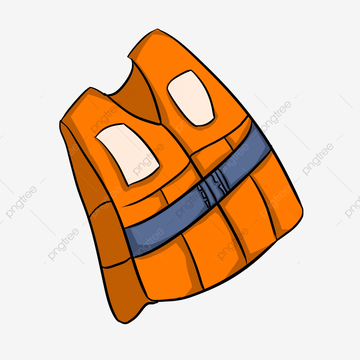 Hand Painted Flood Resistance Rescue Life Jacket Illustration Flood Natural Disaster Png Transparent Clipart Image And Psd File For Free Download