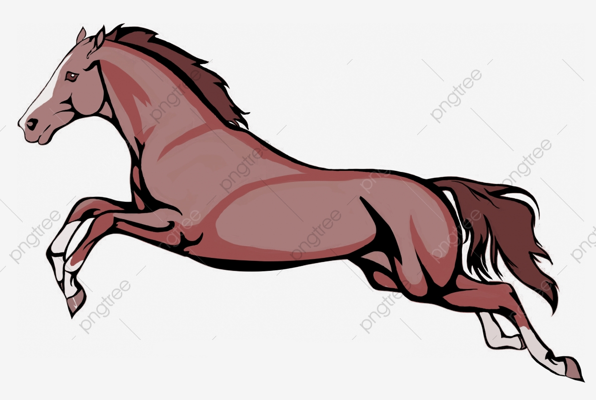 Hand Painted Horse Run Running Horse Horse Clipart Fast A Horse Png And Vector With Transparent Background For Free Download