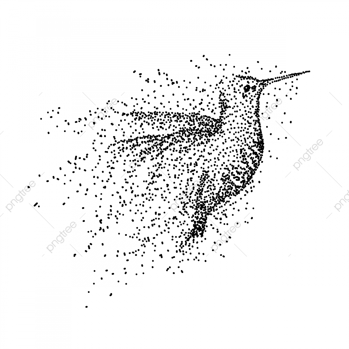 colibri illustration vectorielle de particules r u00e9sum u00e9 animal art png et vecteur pour