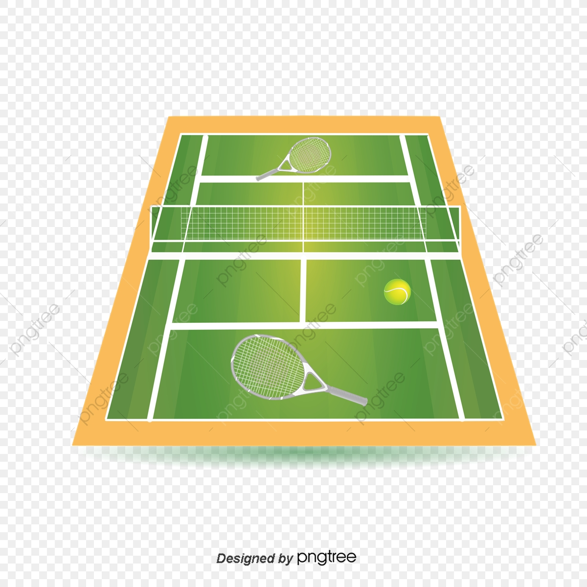 Illustration Of Green Tennis Court Illustration Popular Network Png Transparent Clipart Image And Psd File For Free Download
