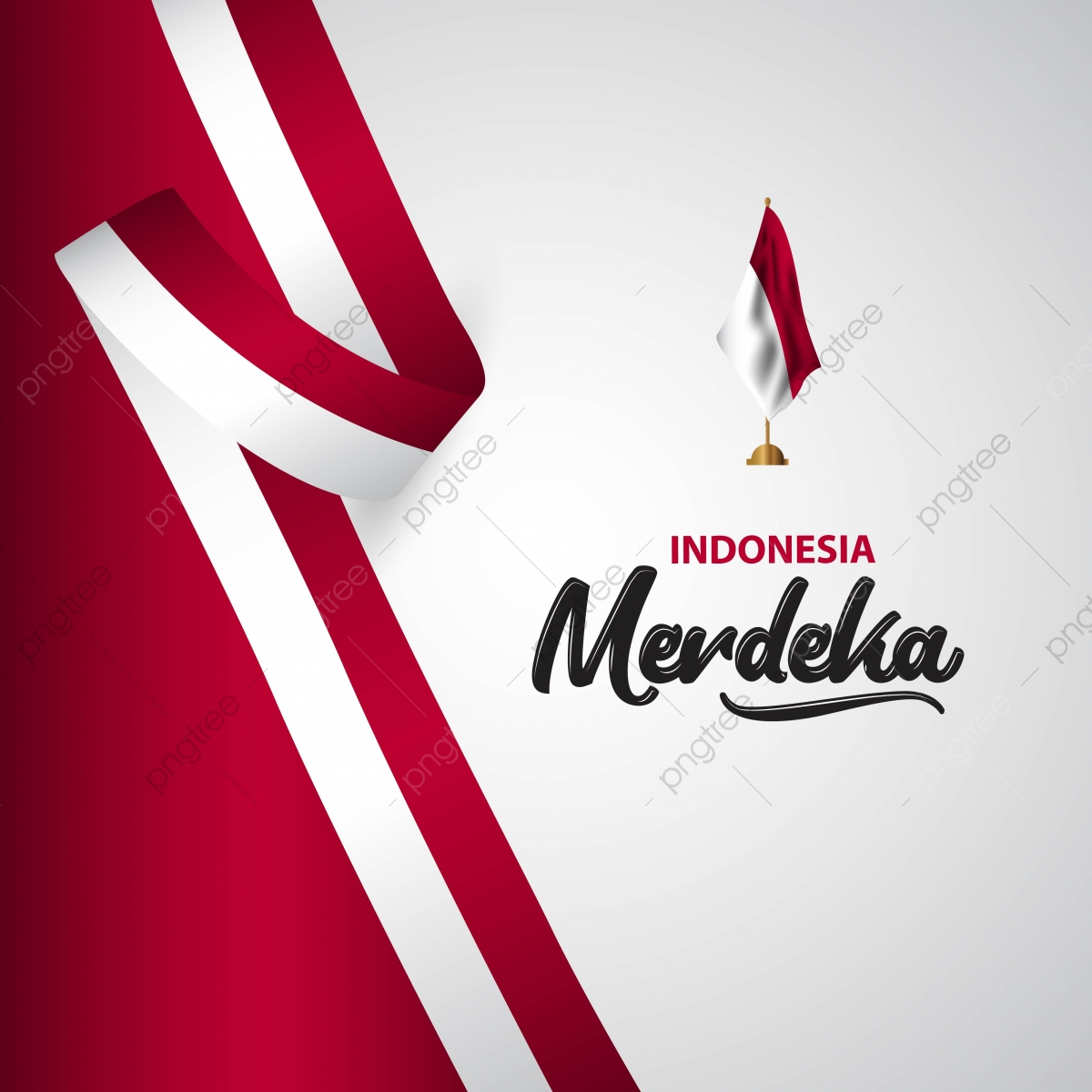pngtree indonesia merdeka flag vector template design illustration png image 4137768