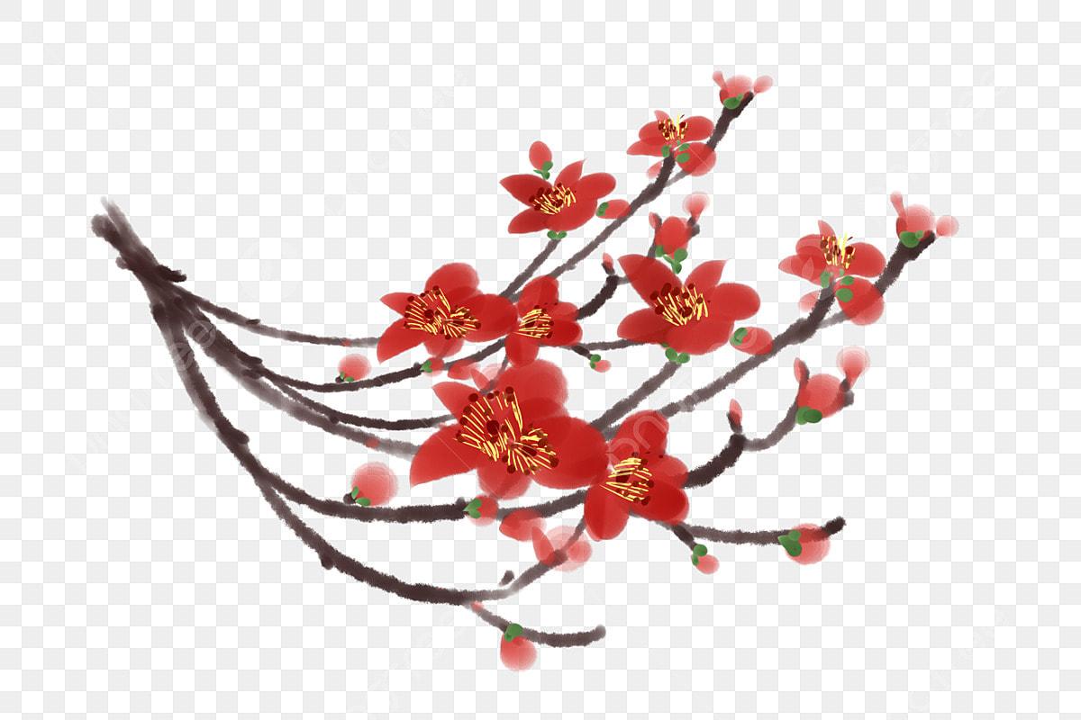 Branche Fleur De Coton encre kapok coton branche de fleur, style élégant chinois