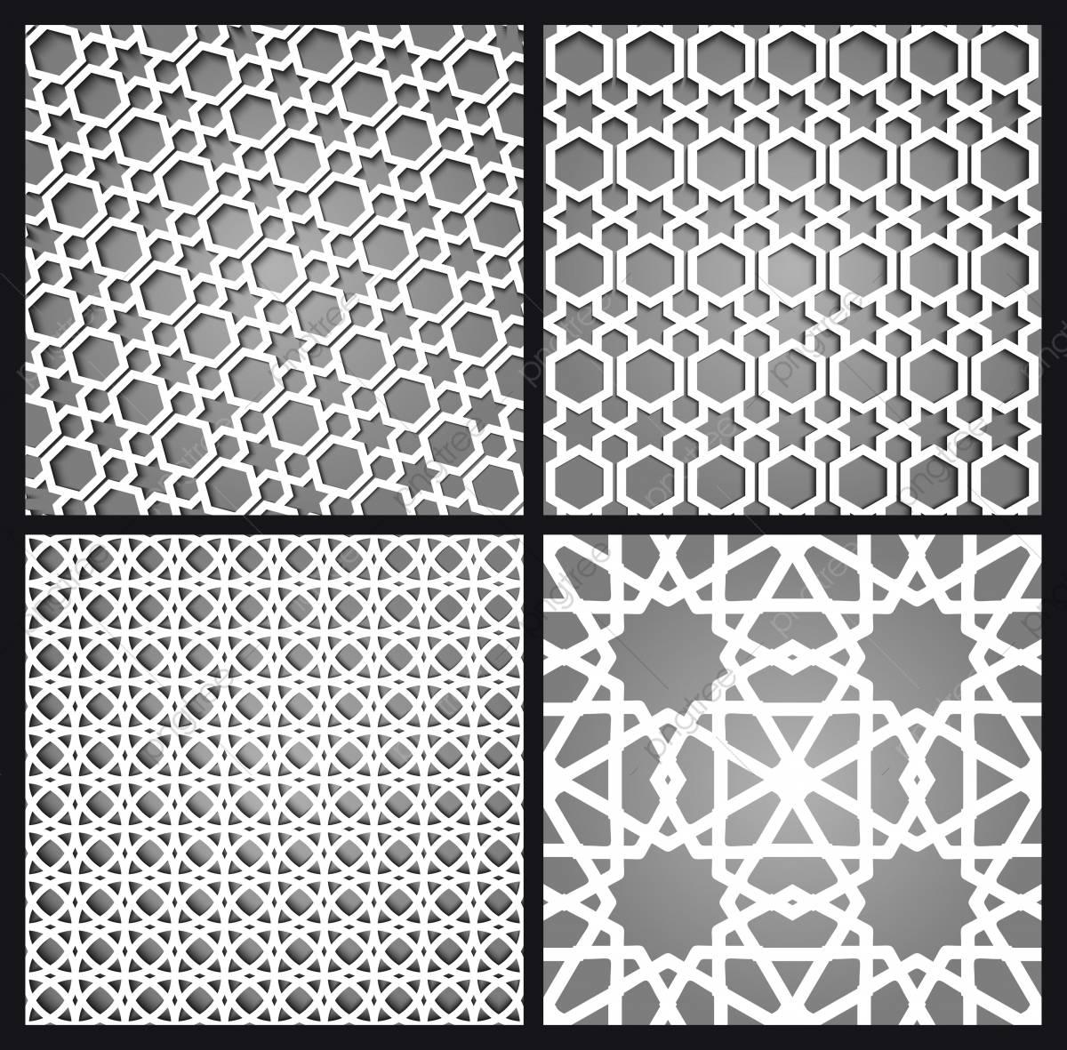 islamic moroccan seamless pattern and background set arabic geometric ornament 3d abstract arab png and vector with transparent background for free download https pngtree com freepng islamic moroccan seamless pattern and background set arabic geometric ornament 3654111 html