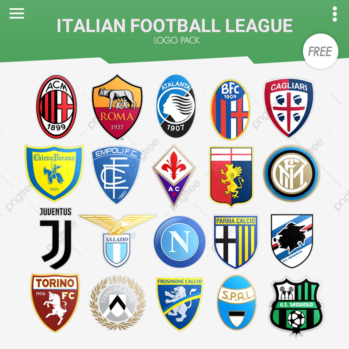 Italian Football League Logo Pack Italy Italian Calcio Serie A Png Transparent Clipart Image And Psd File For Free Download