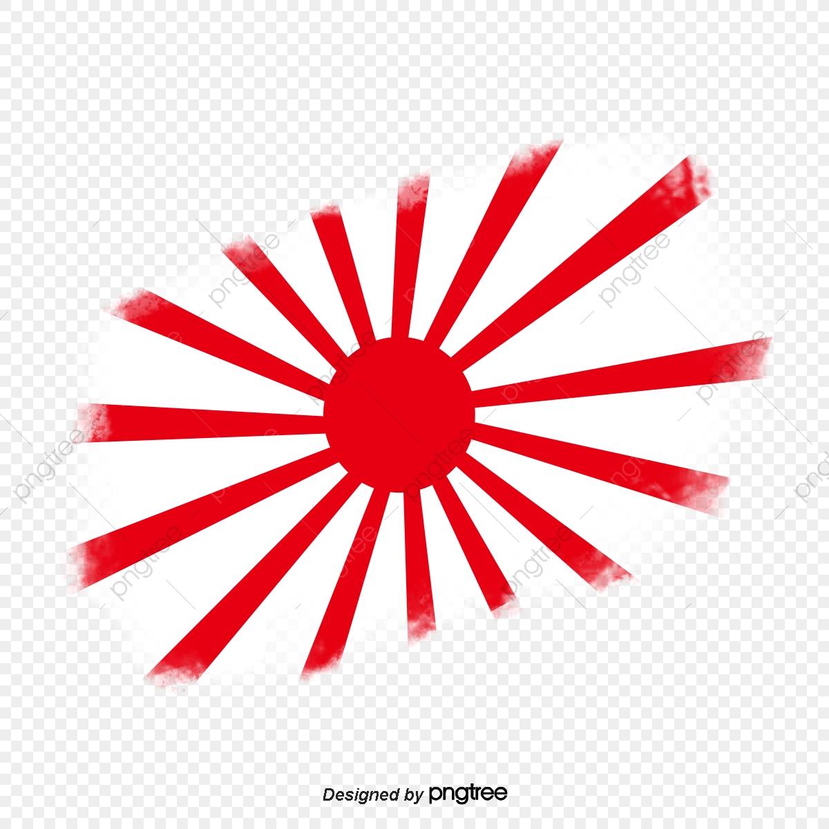 Bandera Japonesa Con Rayas De Radiacion Franja De Radiacion