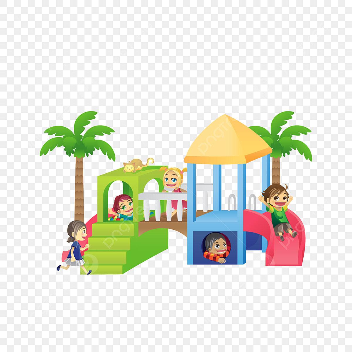 Playground Clipart Playground Clip Art Slide Graphic Merry | Etsy