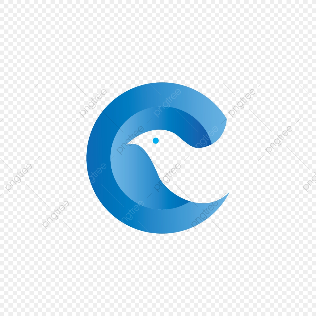 Letter C And Dove C Logo Letter Png And Vector With