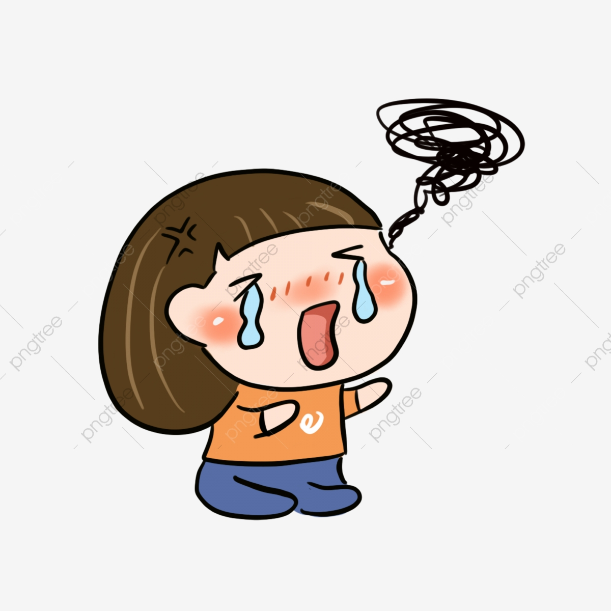EPS Vector - Crying face. Stock Clipart Illustration gg62006435 - GoGraph