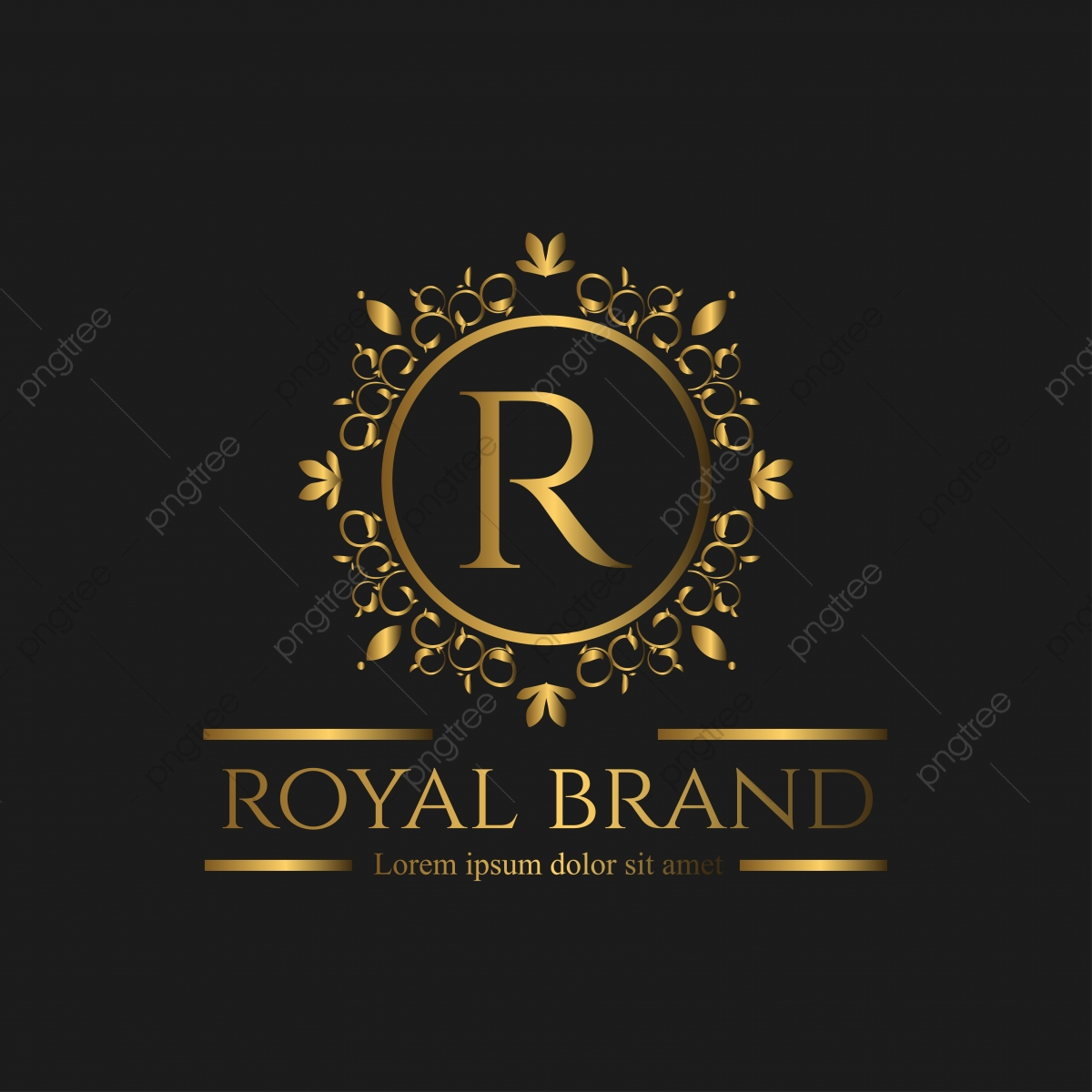 Logo Luxury With Golden Color Logo Royal Luxury Png And Vector