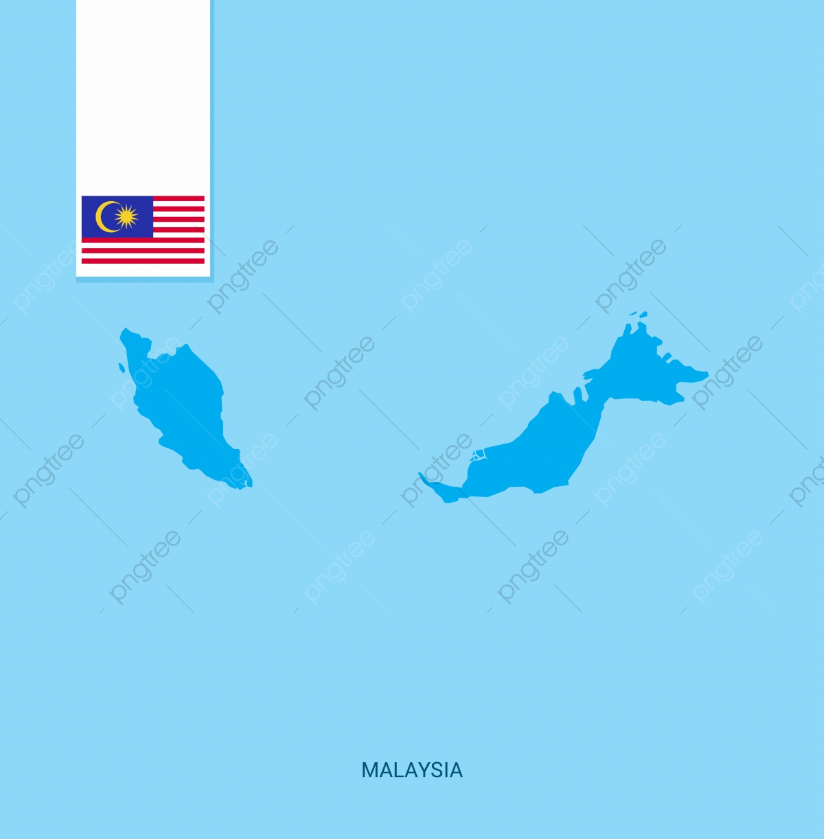 Map Of Asia Malaysia.Malaysia Country Map With Flag Over Blue Background 16 16th Asia
