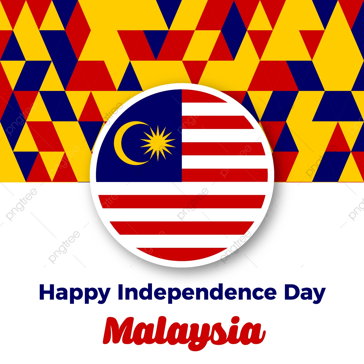 Malaysia Independence Day With Malsian Color Triangle Pattern Background Malaysia Merdeka Day Malaysia Independence Day Malaysia Freedom Png And Vector With Transparent Background For Free Download