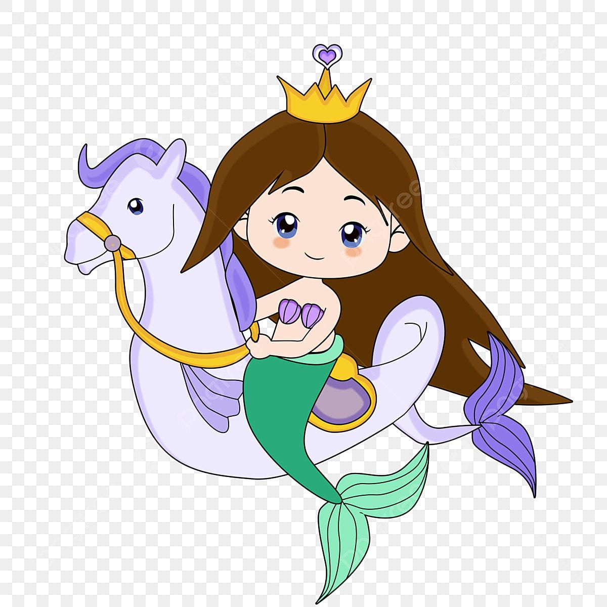 Princesa Sirena Sirena De Dibujos Animados Fantasia Criatura