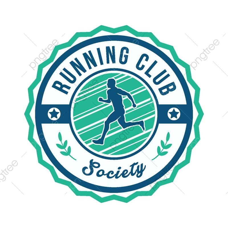 modern running sports club badge logo sport badge logo png and vector with transparent background for free download https pngtree com freepng modern running sports club badge logo 3569587 html