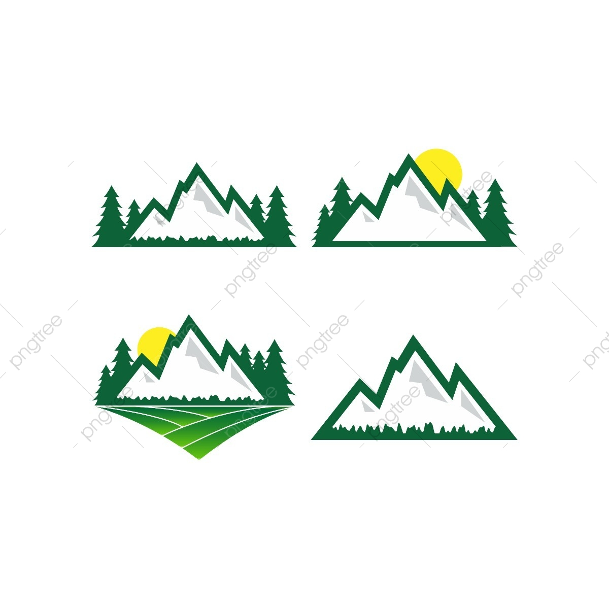 Montanha Natureza Logo Design Template A Natureza Ao Ar