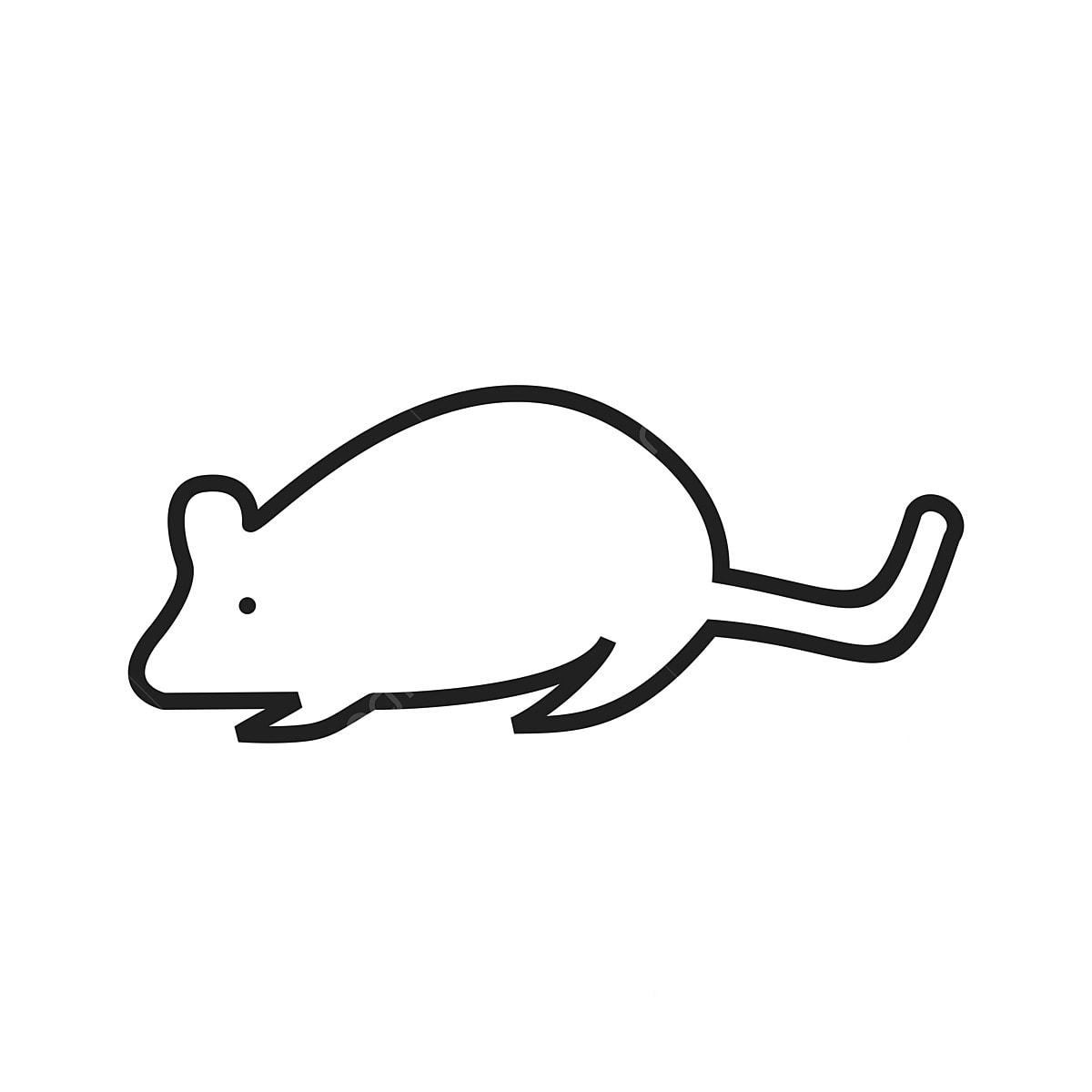 Mouse Line Ikon Mouse Haiwan Tikus PNG Dan Vektor Untuk