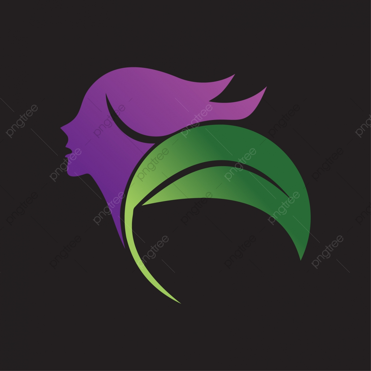 Natural Beauty Salon And Hair Treatment Logo Beauty Spa Logo Png And Vector With Transparent Background For Free Download