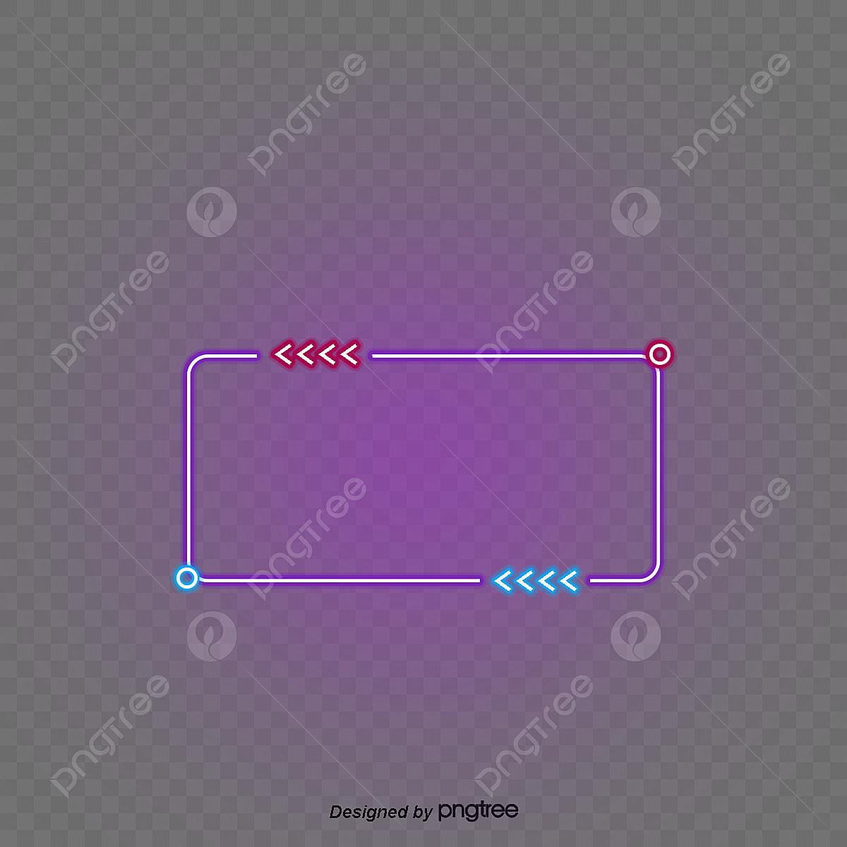 Wondrous Neon Light Effect Square Border Luminescence Circle Lamp Effect Wiring Digital Resources Jonipongeslowmaporg