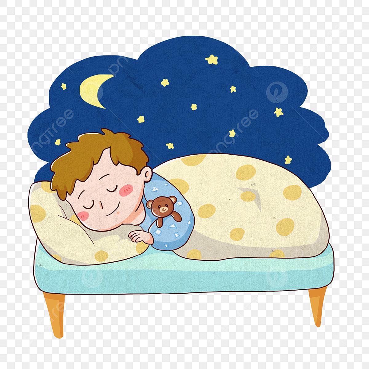 Night Moon Sleep Sleep, Lovely, Hand Drawn Q Version ...