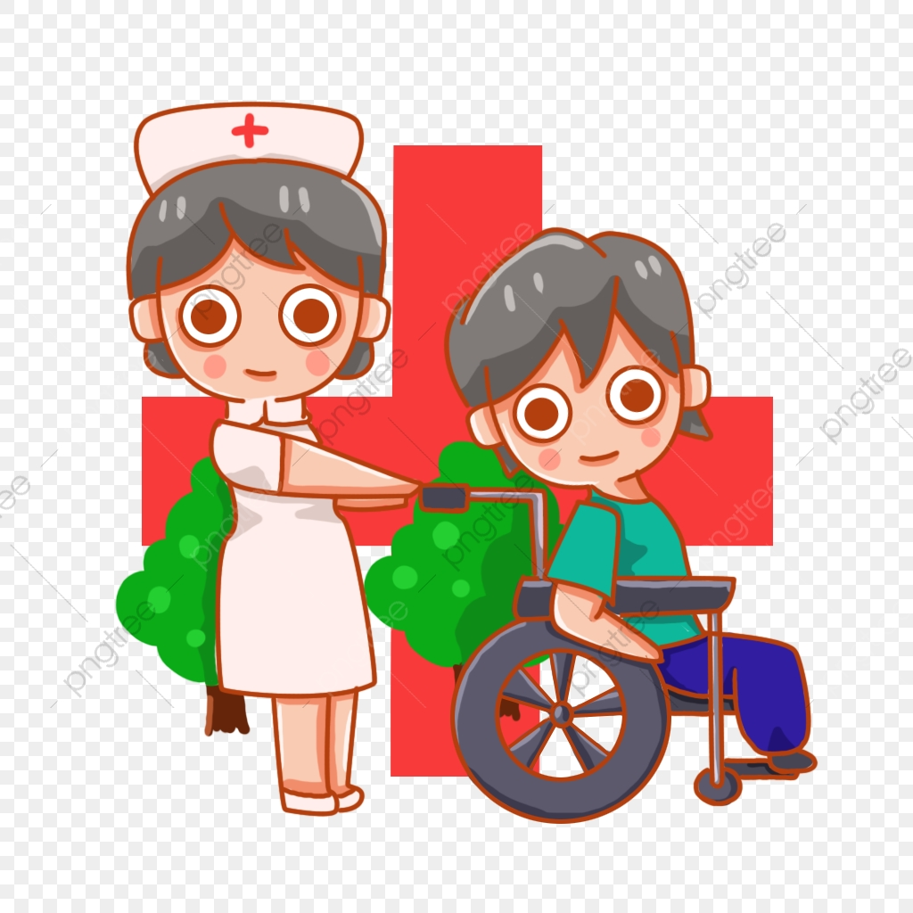 Nurse Wheelchair Turning Nursing Recovery Treatment Red Cross Sick Png Transparent Clipart Image And Psd File For Free Download
