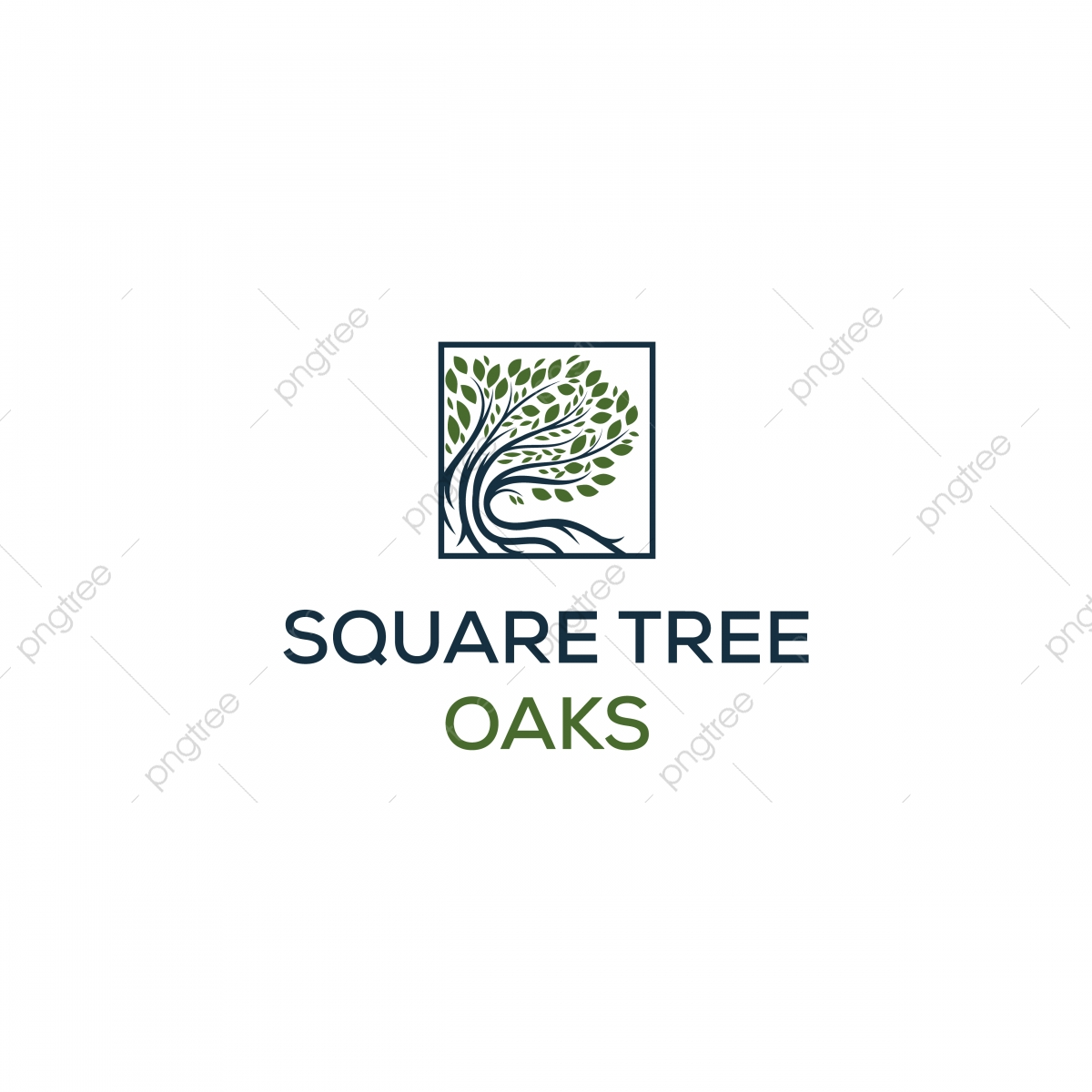 Oaks Logo Designs In Square Symbol, Abstract, Ancient, Art PNG and