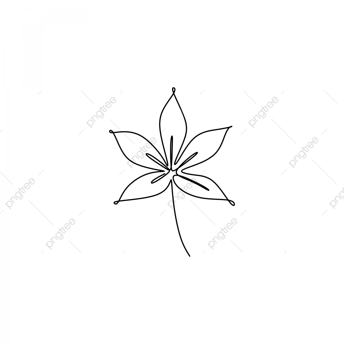 One Line Drawing Of Leaf With Simple Lineart Minimalsm Style Design Vector Outline Png And Vector With Transparent Background For Free Download