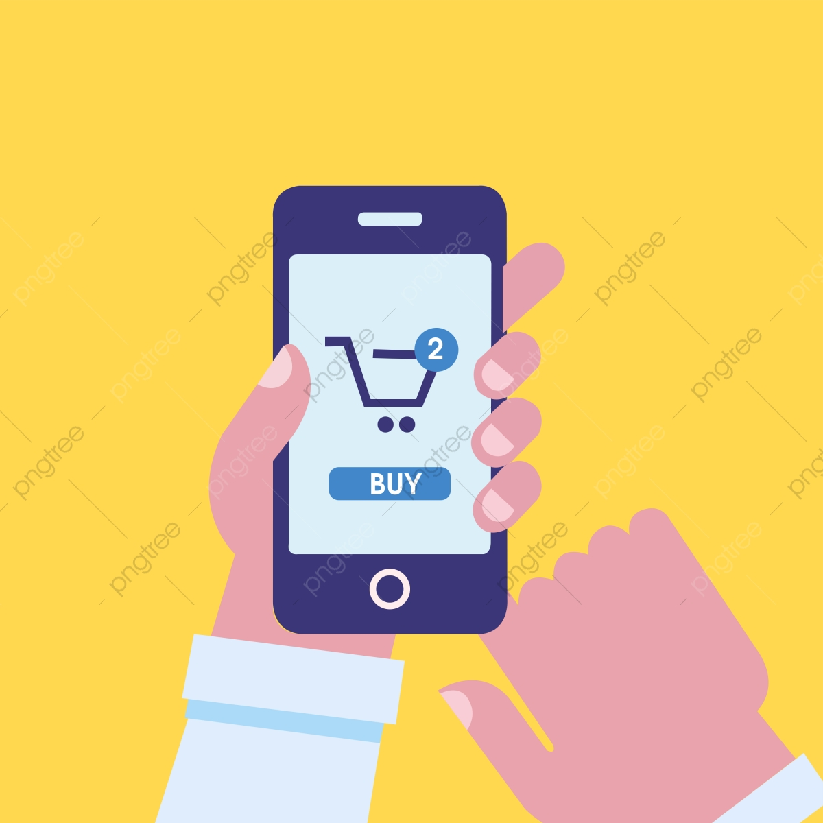 30a1f9e7270 Online Shopping Vector Human Hand Using Mobile-phone
