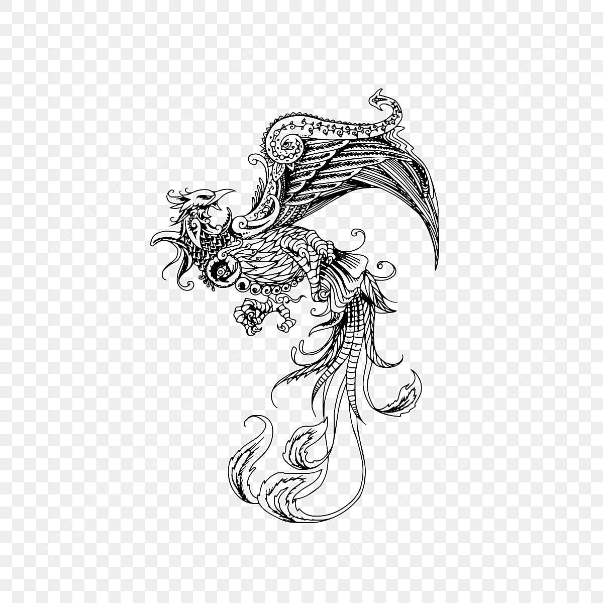 Phoenix Tatouage Conception Lart Des Objets Graphiques