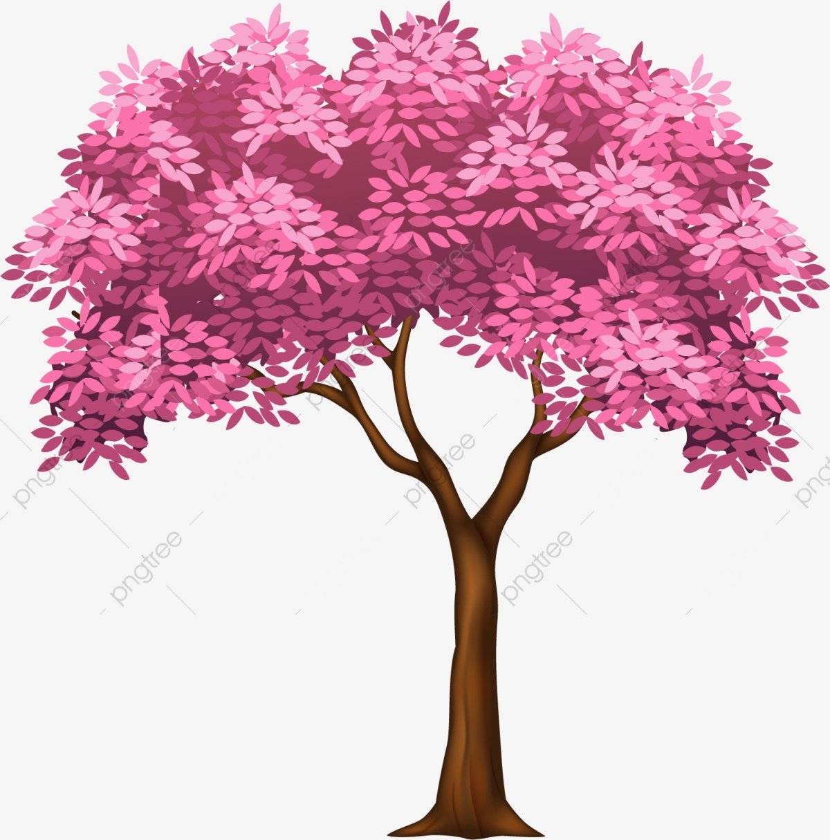 Pink Tree Material Tree Clipart Hand Tree Png Image And Clipart