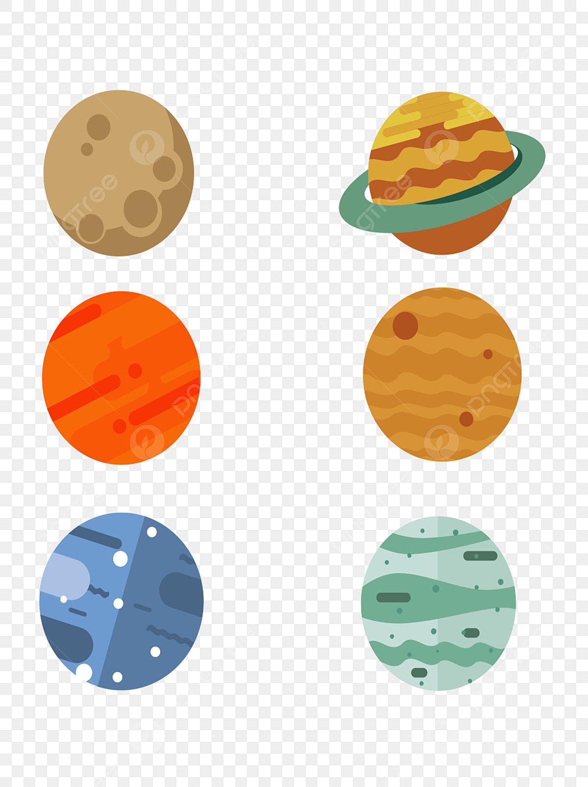 Gambar Planet Comel Kartun Sistem Suria Bulan Marikh Tangan Dicat Planet Sistem Solar Kartun Png Dan Psd Untuk Muat Turun Percuma
