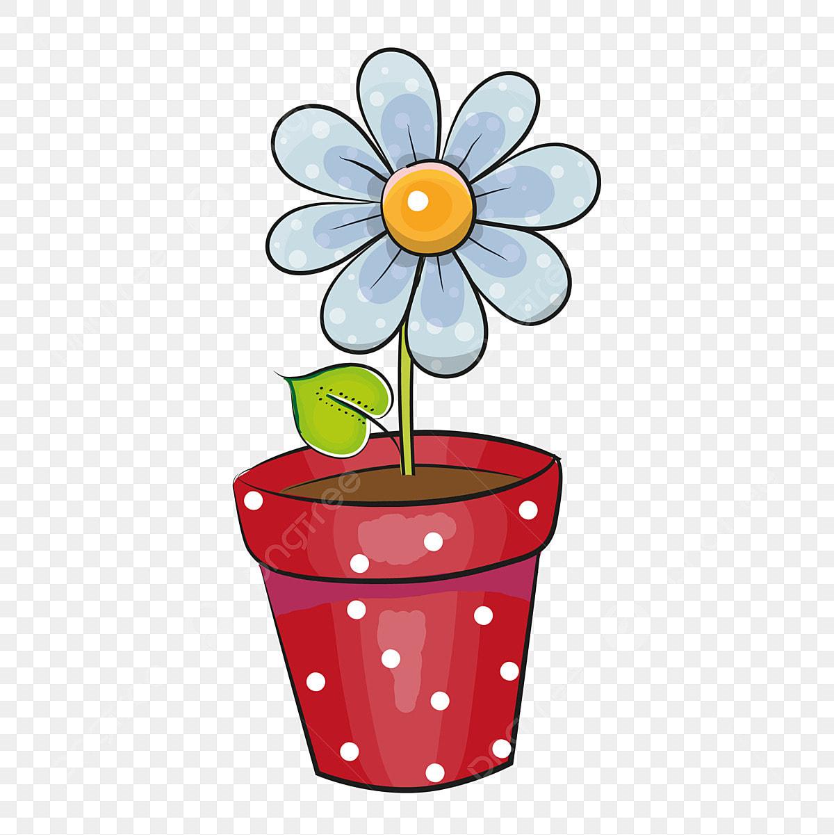 Rośliny Kwiat Doniczki Kwiaty, Garnek Kwiat, Rysunek ...
