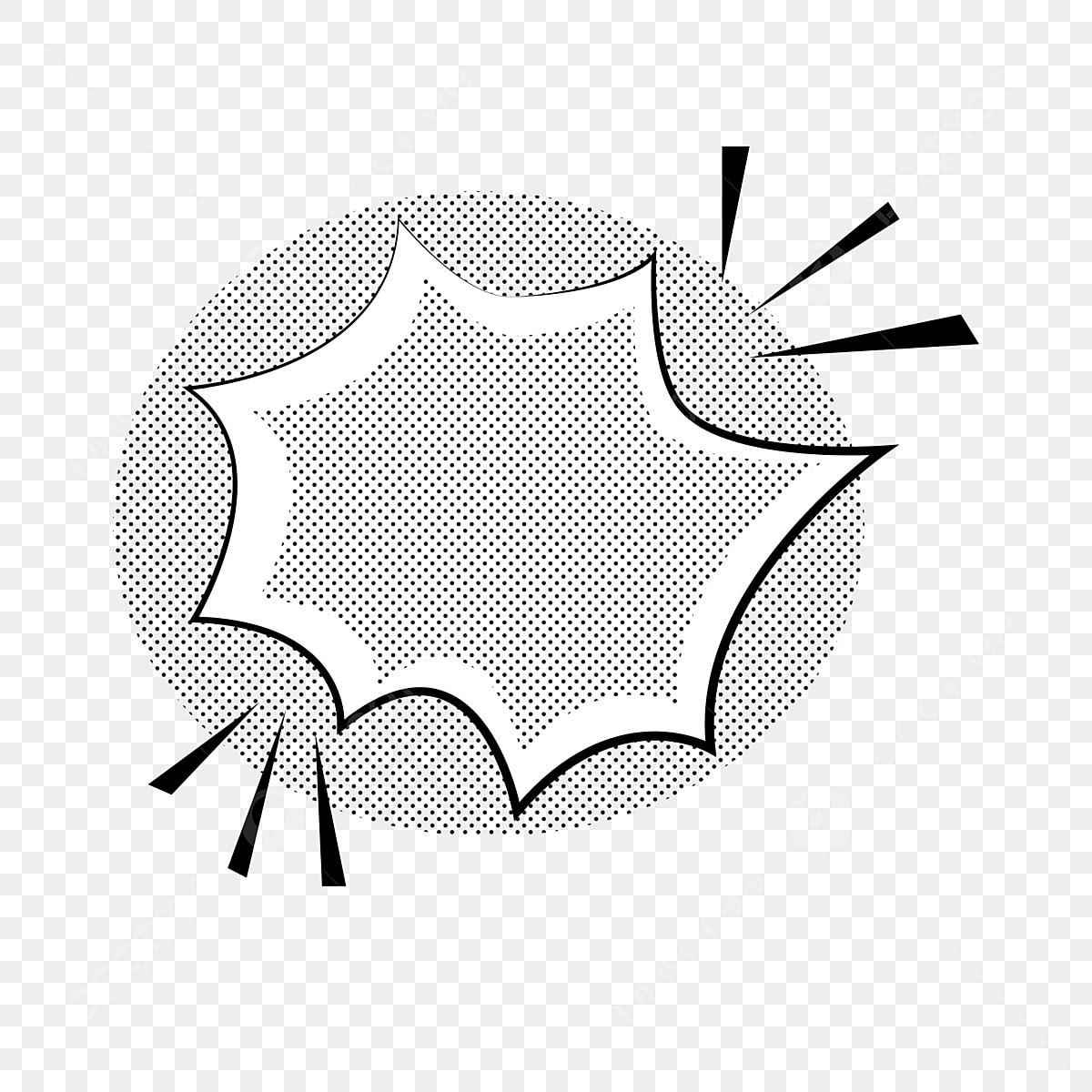 Estilo Pop Preto E Branco Caixa De Dialogo Explosao Quadro Padrao