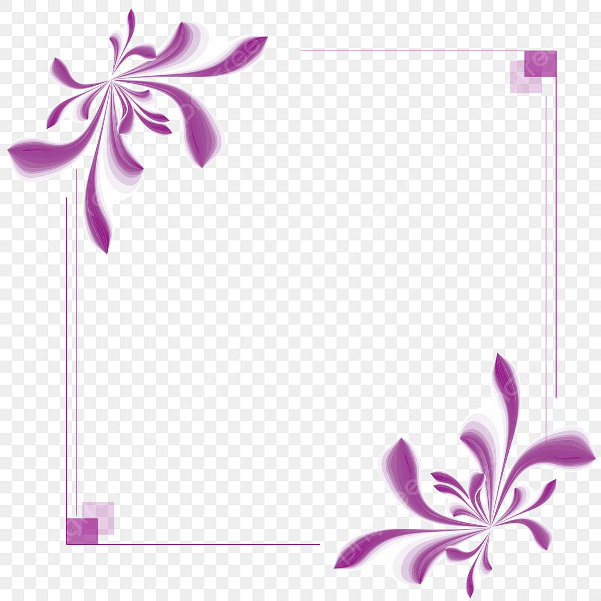 Purple Border Flower Flower Frame Fashion Border Beautiful