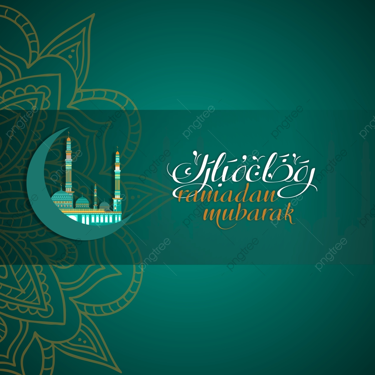 Ramadan Background Vector, Islam, Ramadan, Gold PNG Transparent